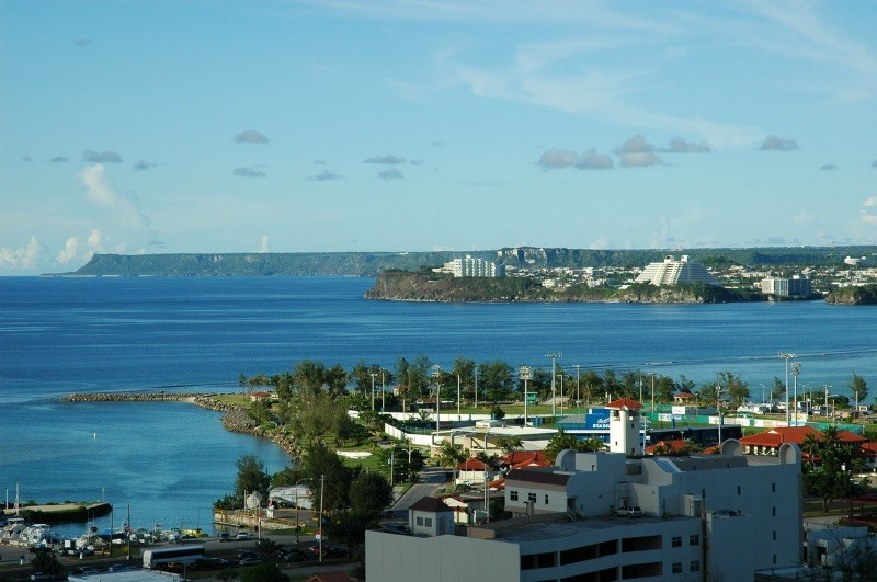 Looking Past Marina to Agana Bay