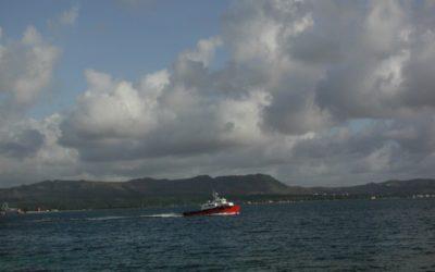 Boat in Apra Harbor