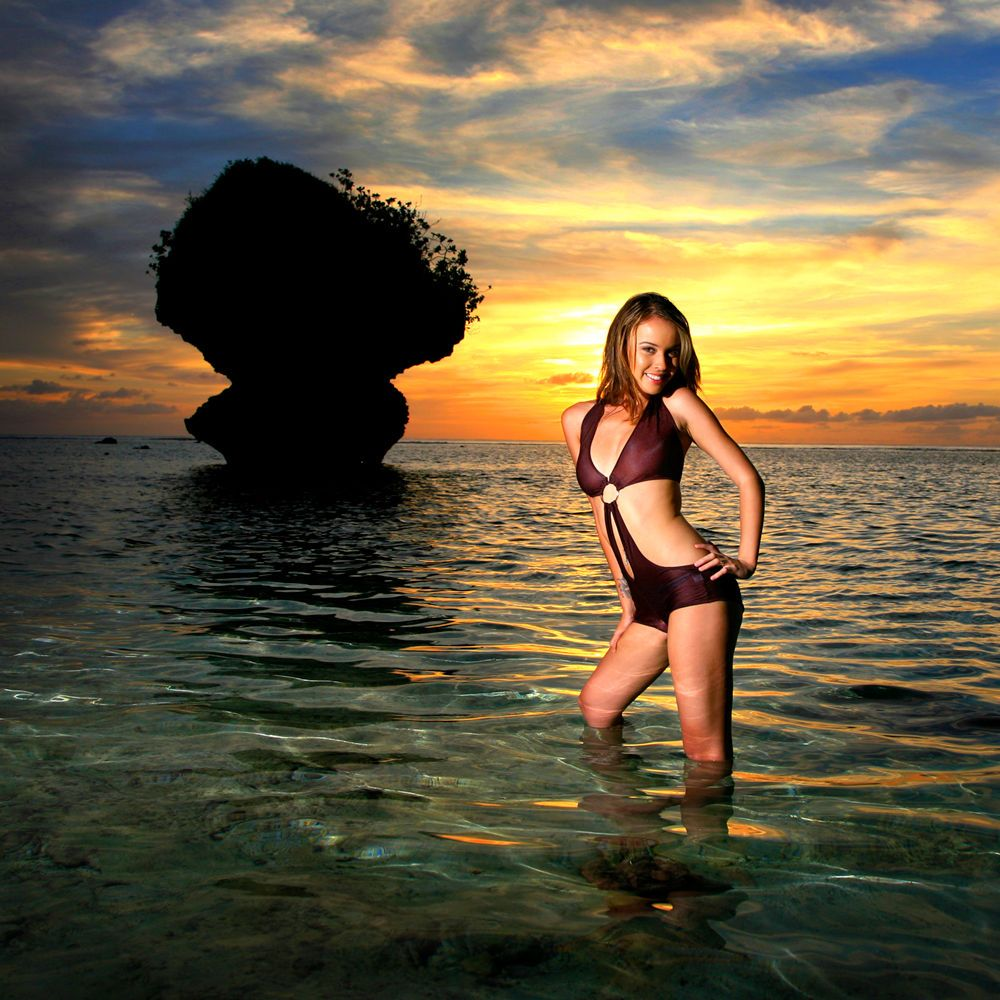 Dear Heart Taylor at Tanguisson Beach for Sunset on Guam