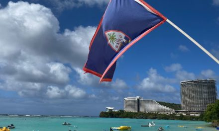 Guam flag in the breeze