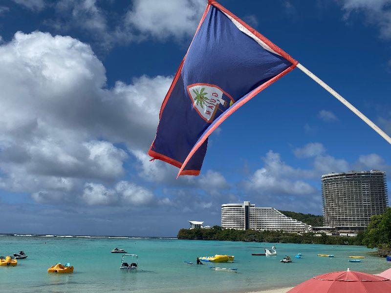 Guam flag in the breeze