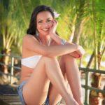 Guam girl Malu waiting for an Island Sunset